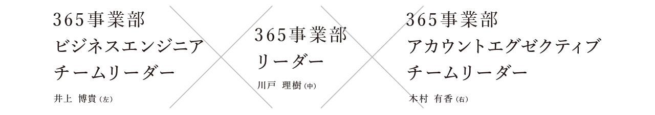365事業部 川戸理樹x木村有香x井上博貴