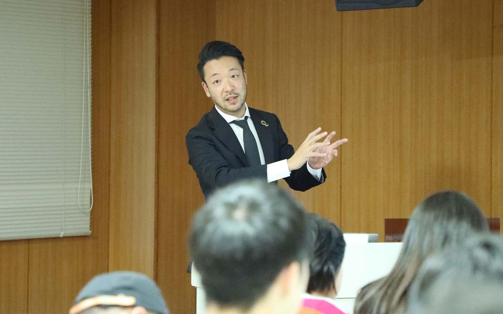 同志社大学でリブランディング特別セミナーを実施。