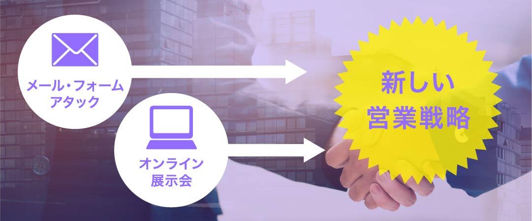 「メール・フォームアタック」&「オンライン展示会」が生み出す新しい営業戦略